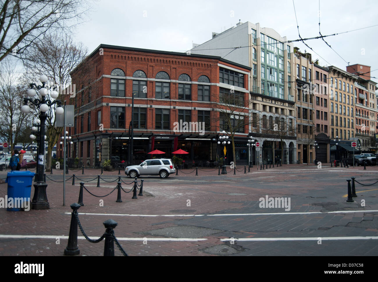 Chill Winston Restaurant in Gastown, Vancouver, British Columbia, Canada - Stock Image