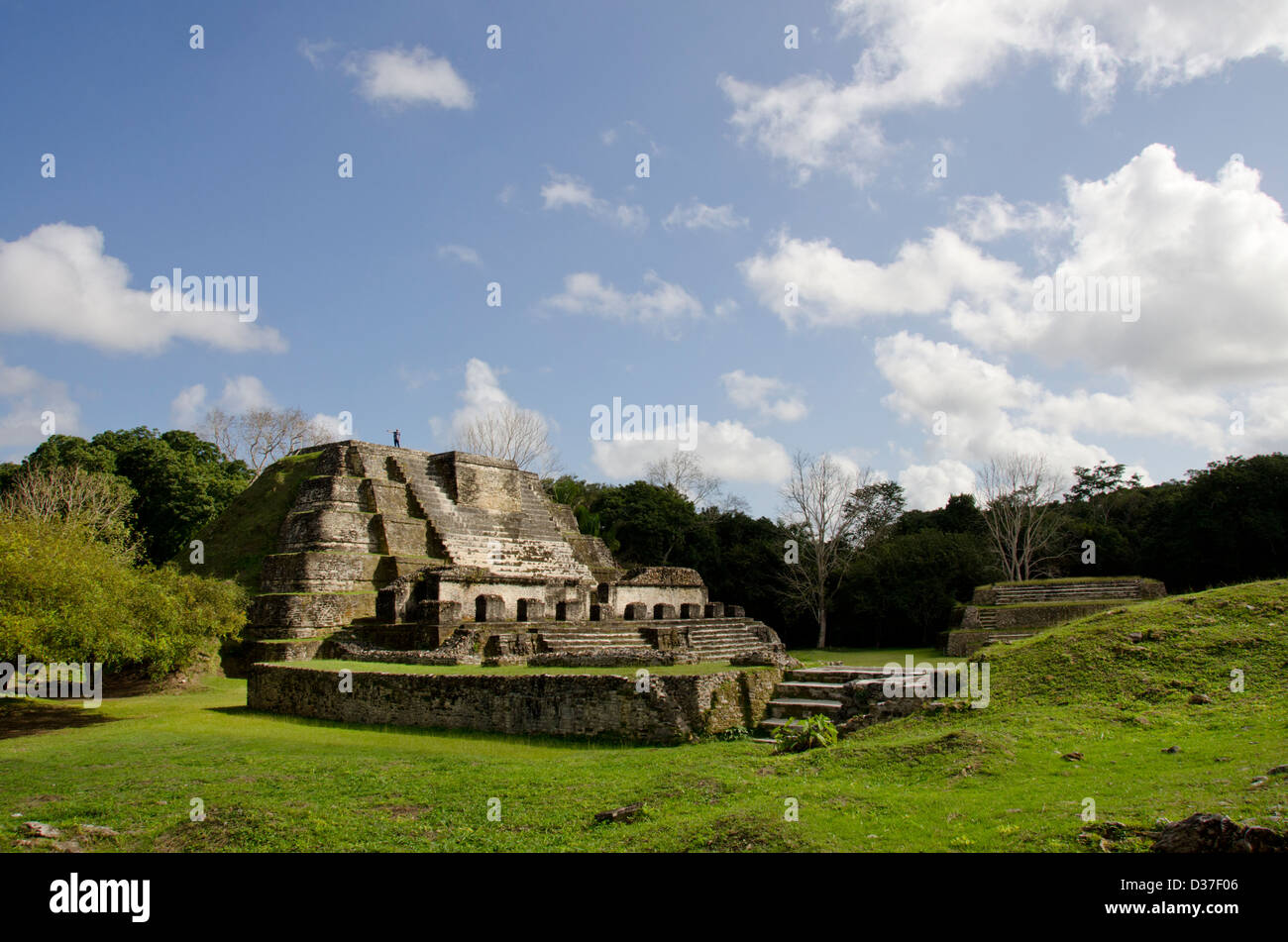Belize, Altun Ha. Altun Ha, ruins of ancient Mayan ceremonial site from the Classic Period (1100 BC to AD 900). - Stock Image