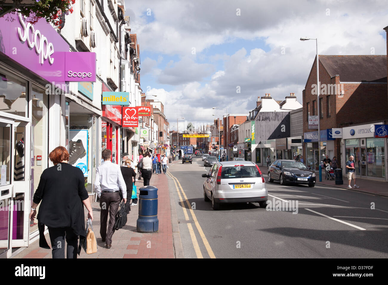 Scope charity shop in Tonbridge High Street Kent UK - Stock Image