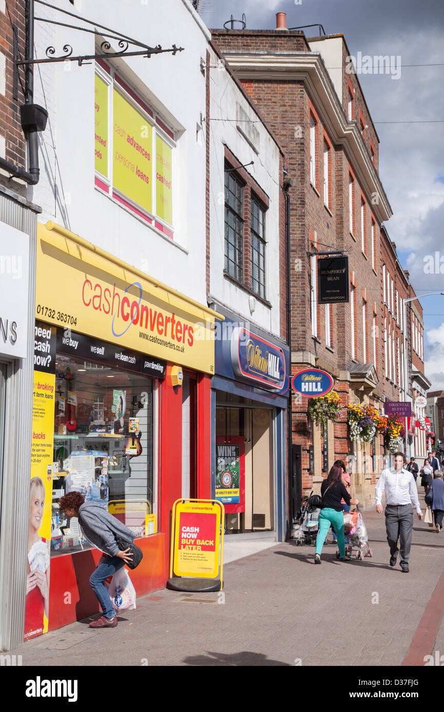 Cash converters shop in Tonbridge High Street Kent UK - Stock Image
