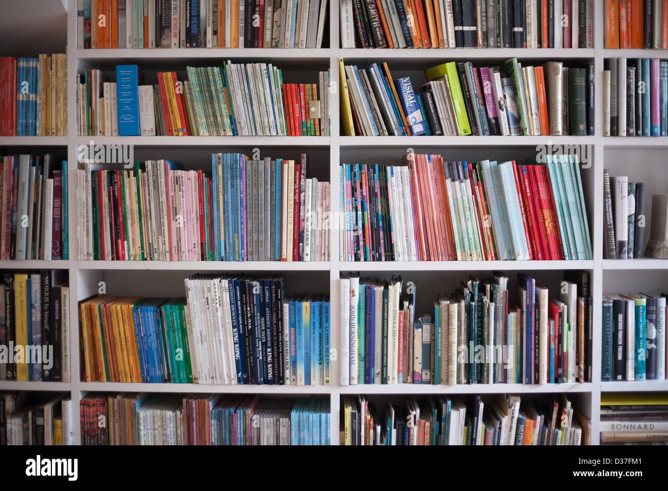 Book Shelf Full Of Books Landscape Format Stock Photo 53641057