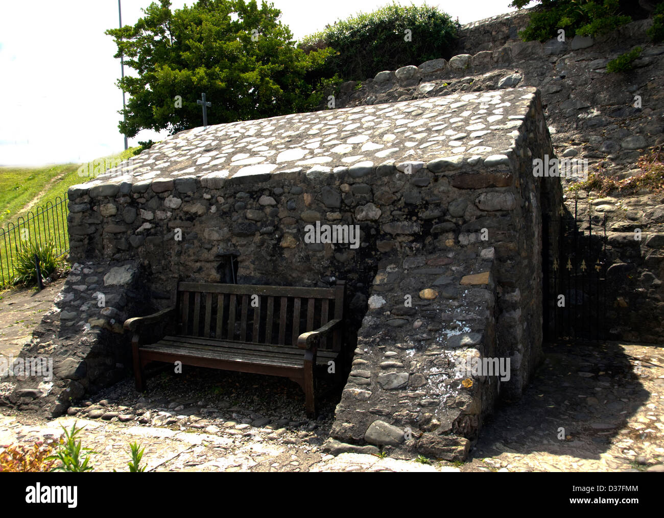 WALES; CONWY; RHOS-ON-SEA EUCHARIST CHURCH OF ST. TRILLO - Stock Image