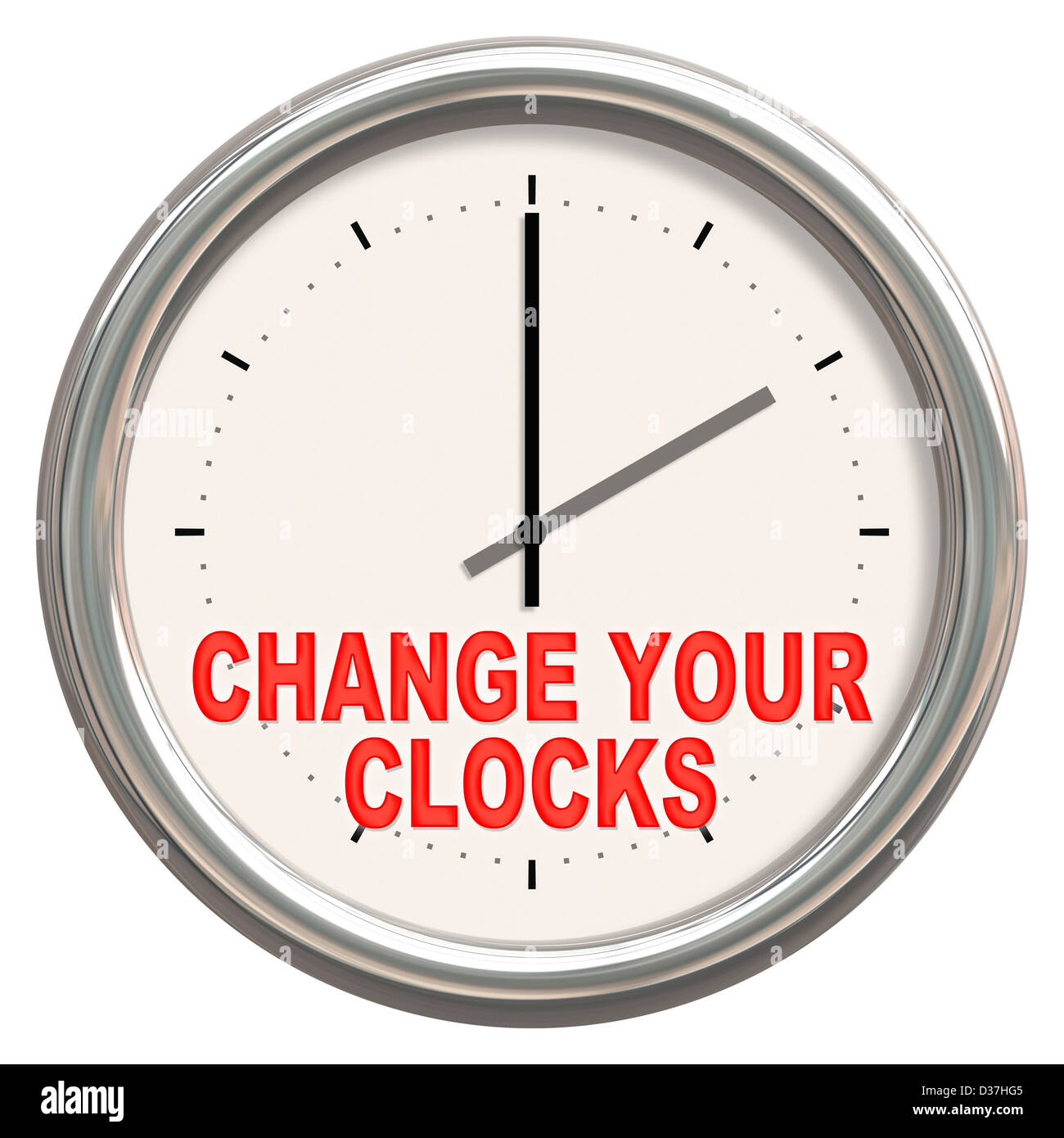 An image of a nice clock with 'change your clocks' - Stock Image