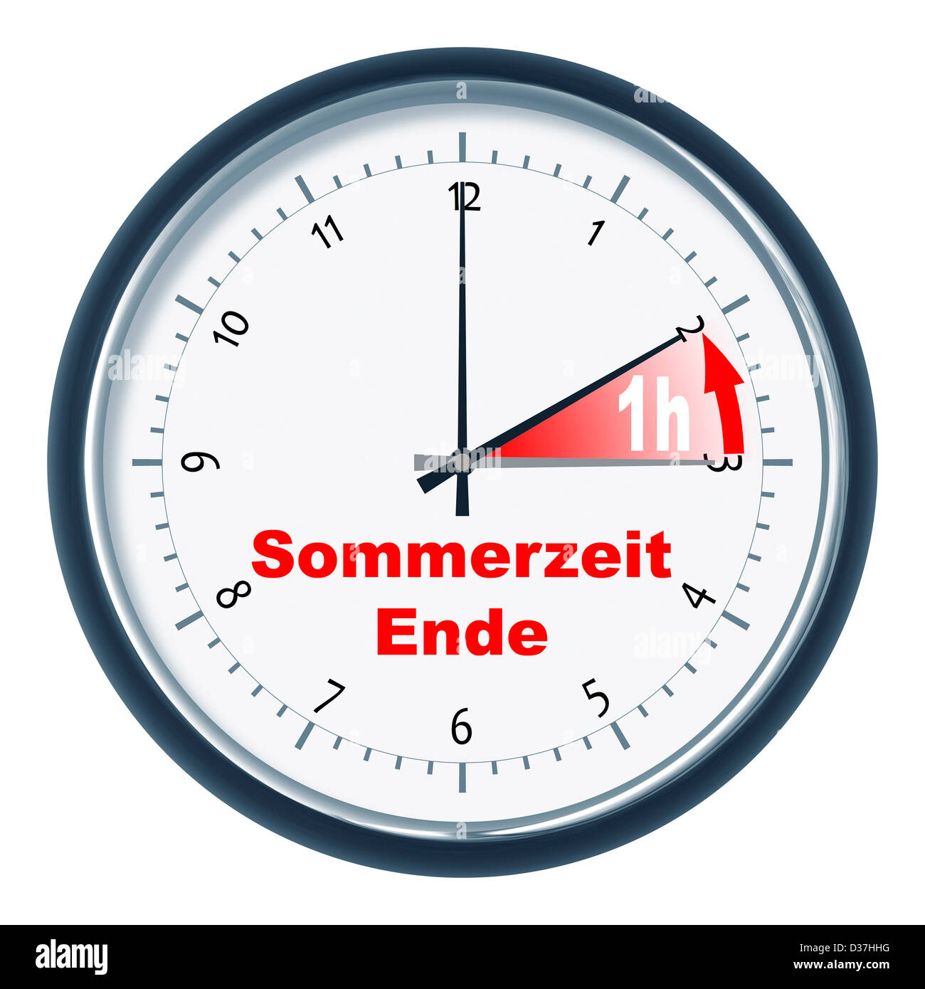 An image of a nice clock 'Sommerzeit endet' - Stock Image