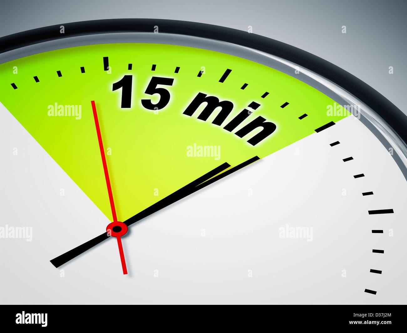 15 min clock