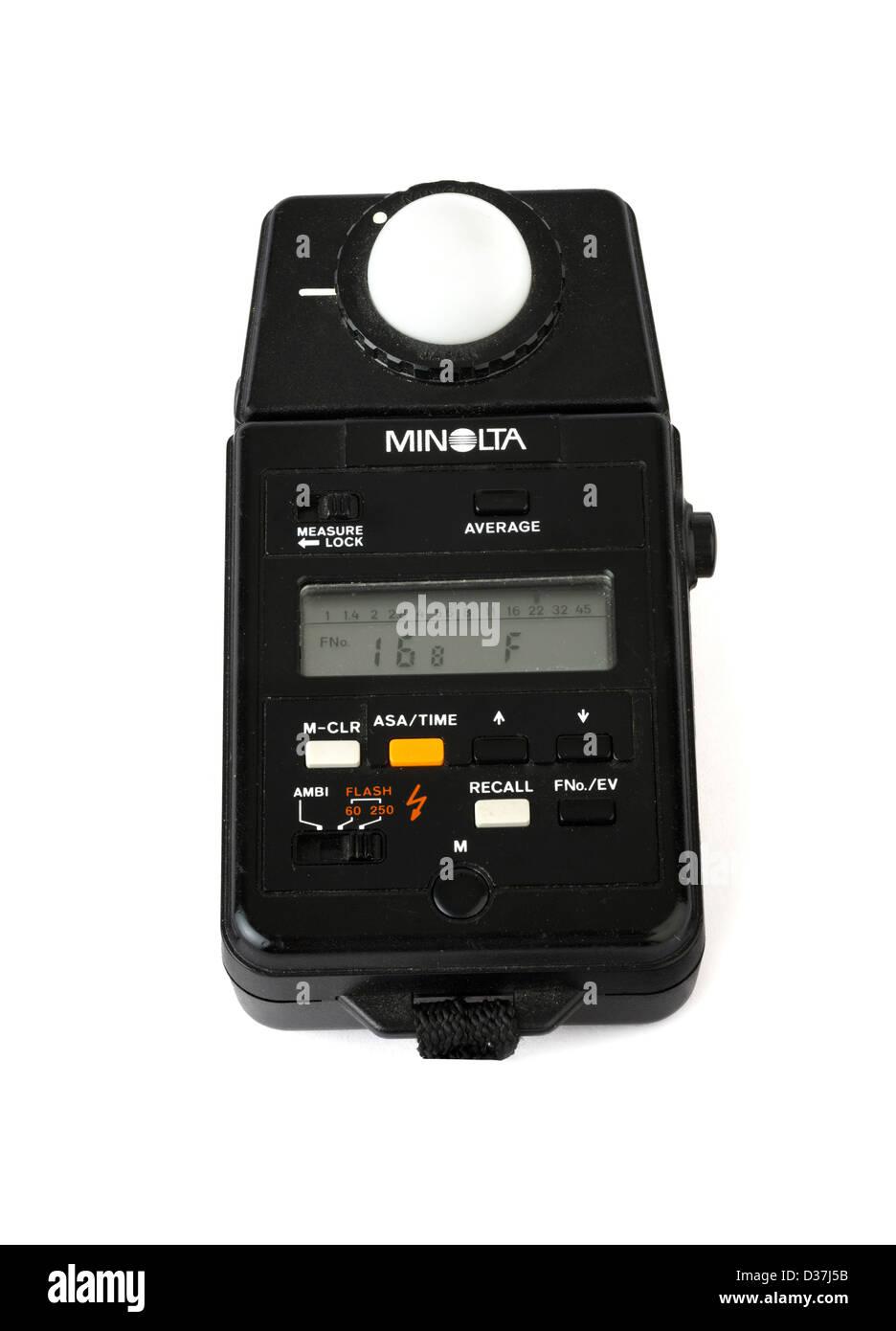 Minolta Exposure/Flash Meter - Stock Image