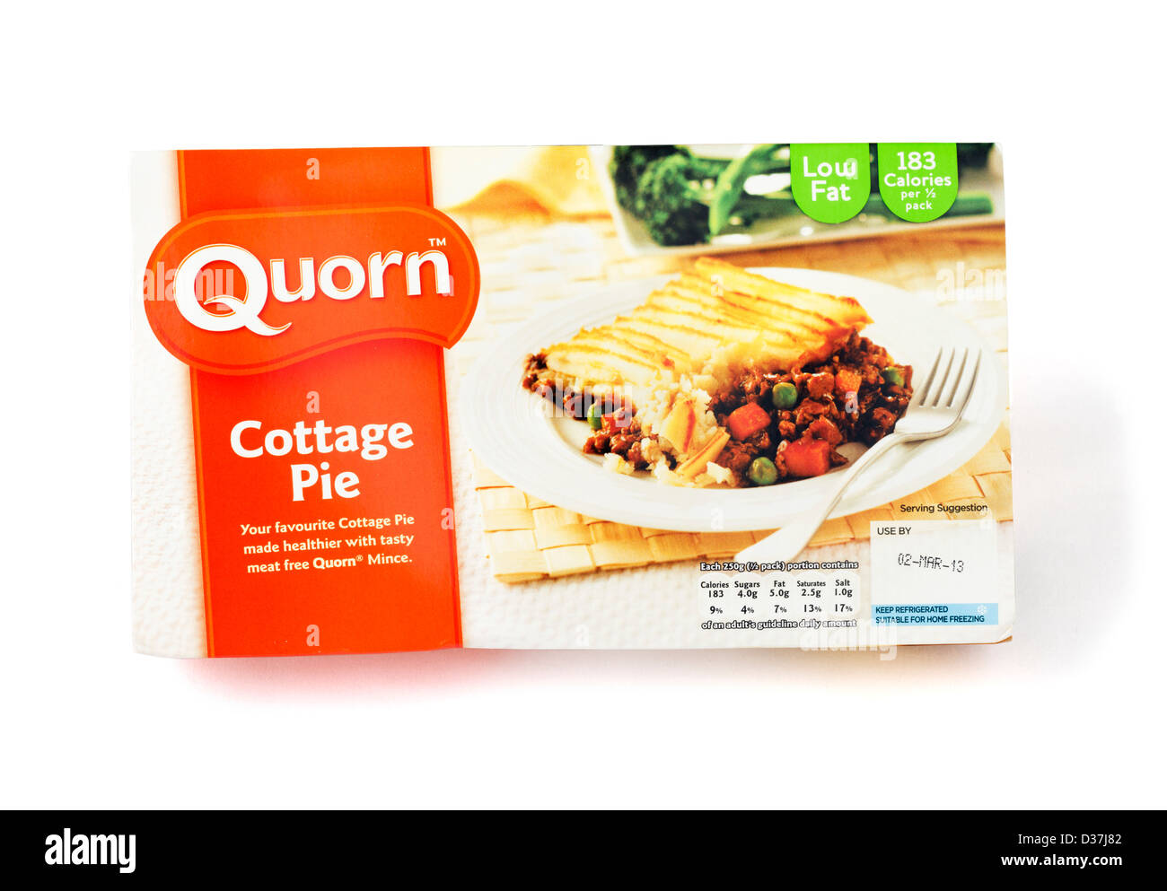 Quorn Cottage Pie ready meal, UK - Stock Image