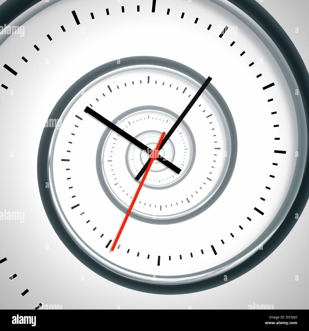 An image of a nice time spiral clock - Stock Image