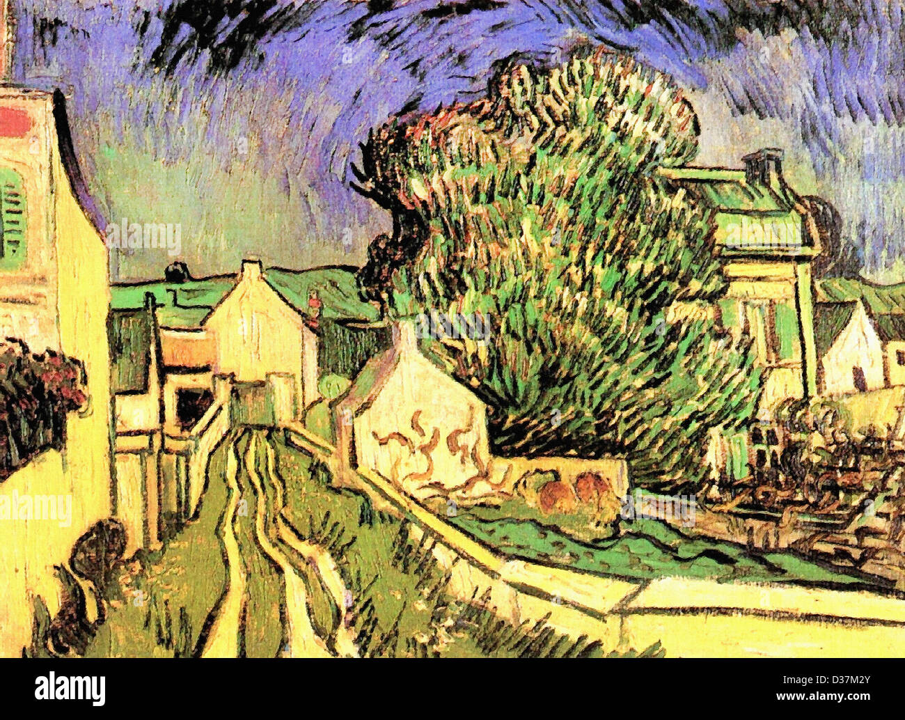 Vincent van Gogh, The House of Pere Pilon. 1890. Post-Impressionism. Oil on canvas. Tate Gallery, London, UK. - Stock Image