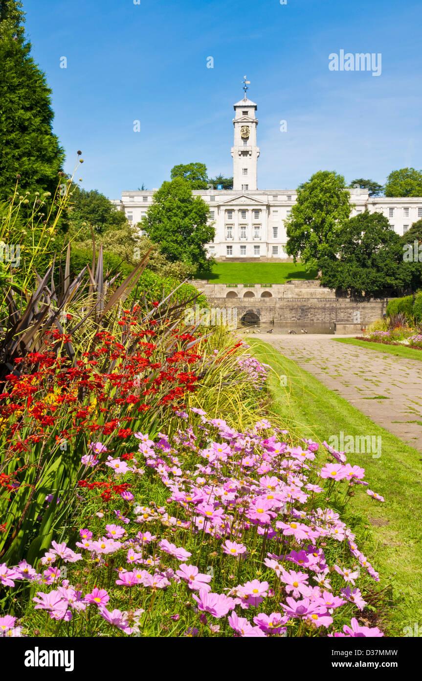 Nottingham University park lake and Trent building Nottingham Nottinghamshire England UK GB EU Europe - Stock Image