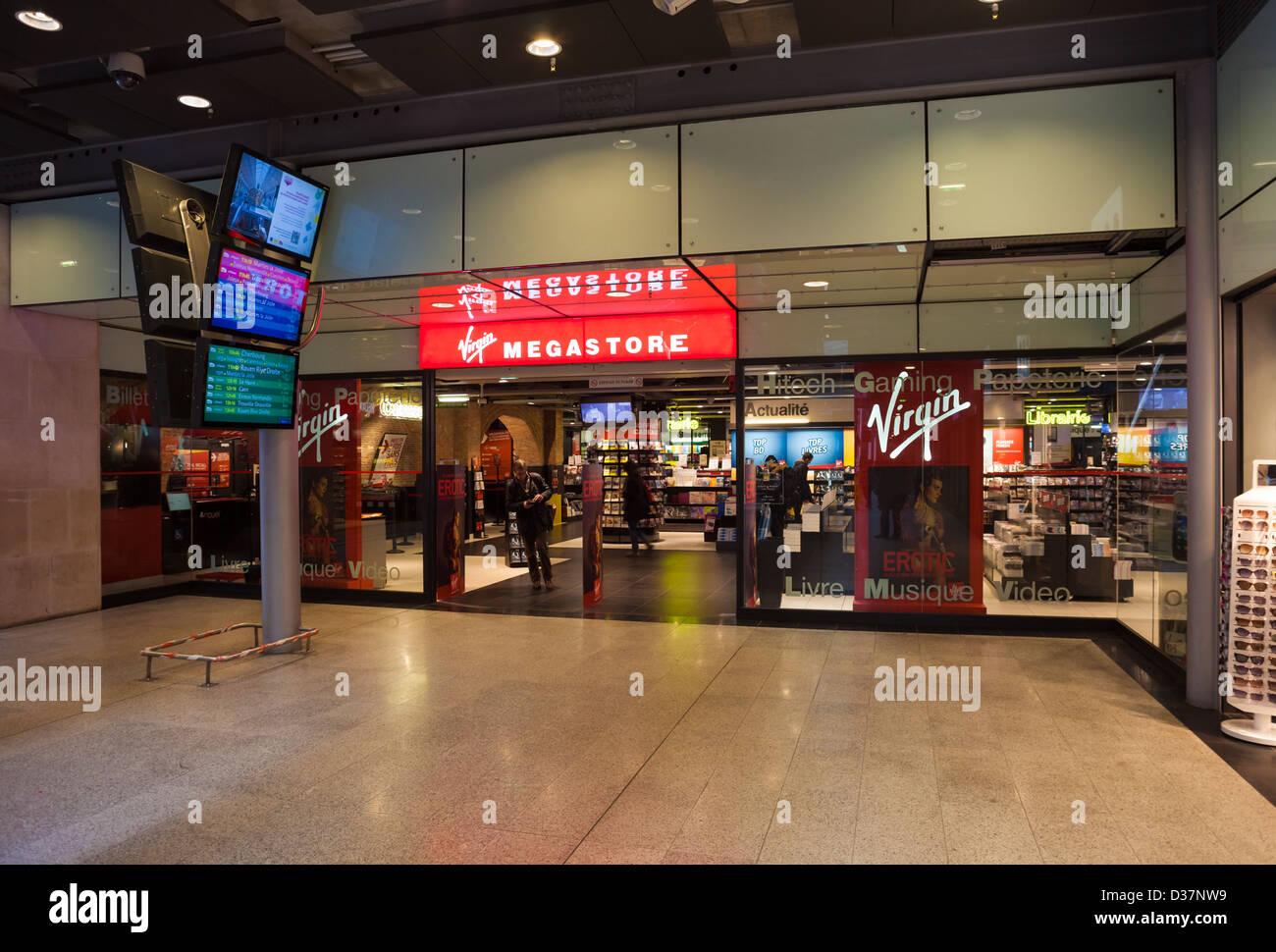 Virgin Megastore Paris France Stock Photos & Virgin