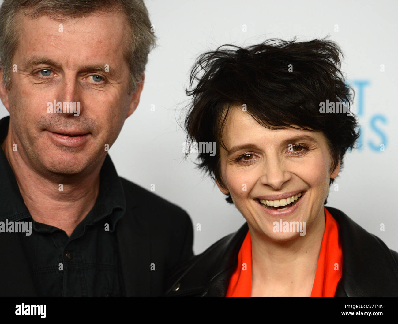 French actress Juliette Binoche and director Bruno Dumont attend the reception 'Soiree francaise du cinema' - Stock Image