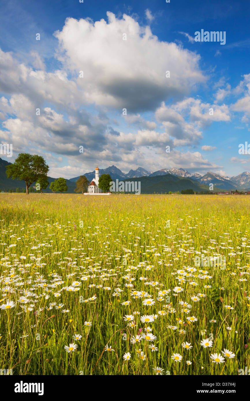 St Coloman church, Schwangau, Bavaria, Germany - Stock Image
