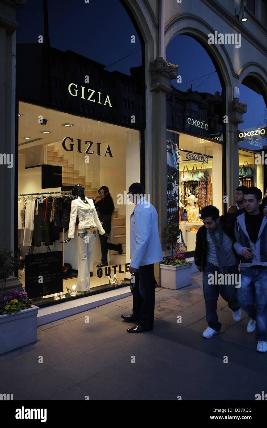 Istanbul, Turkey, the Turkish boutique fashion labels GIZIA Stock