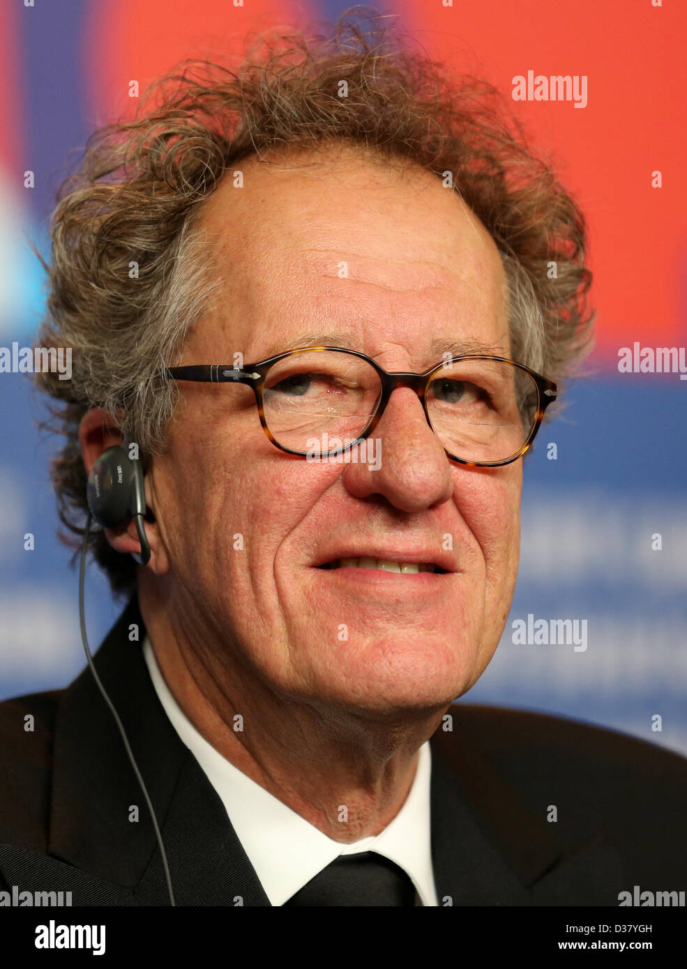 Australian actor and film producer Geoffrey Rush attends the press conference for the movie 'The Best Offer' - Stock Image