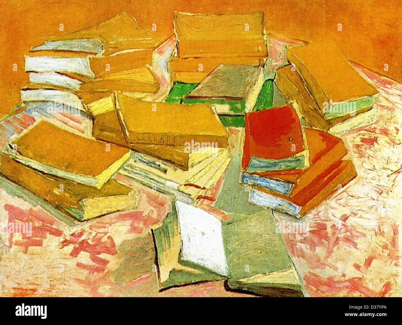 Vincent van Gogh, Still Life - French Novels. 1888. Post-Impressionism. Oil on canvas. Van Gogh Museum, Amsterdam, - Stock Image