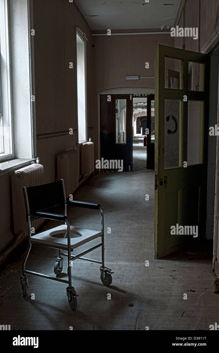 Closed and deserted Mental Asylum. - Stock Image