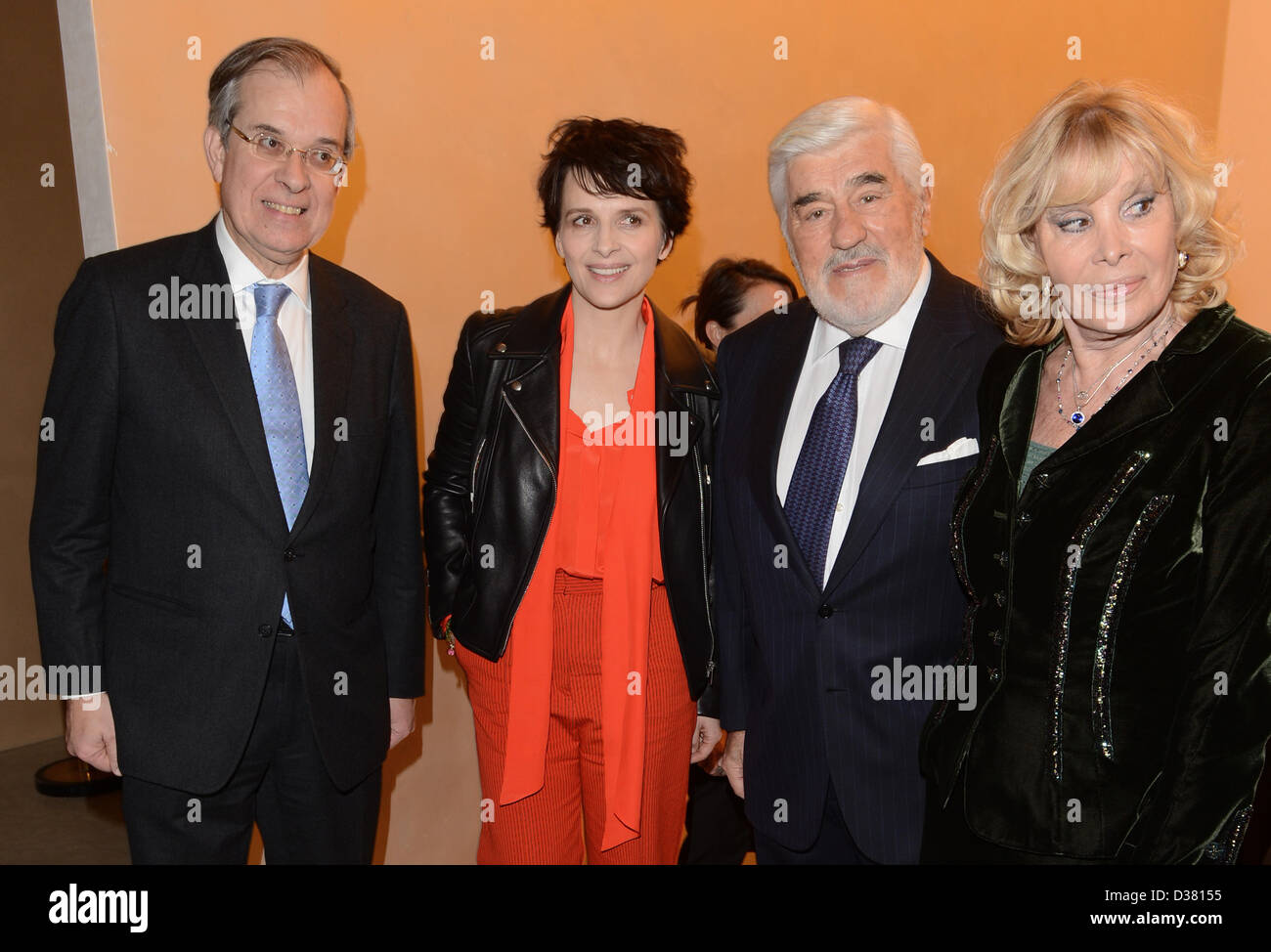 French ambassador Maurice Gourdault-Montagne (L-R), French actress Juliette Binoche, German actor Mario Adorf and - Stock Image