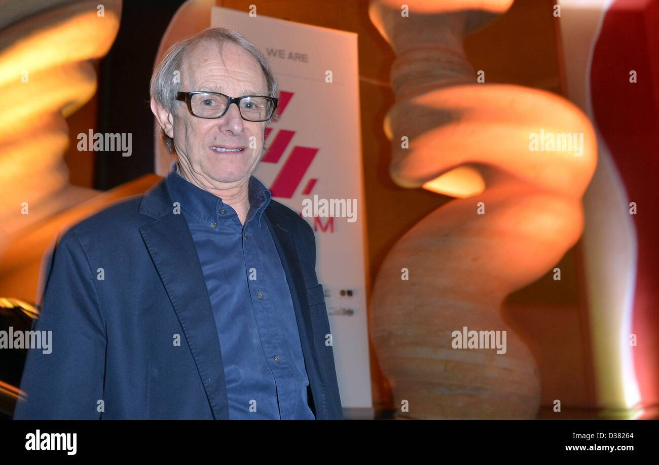 British director Ken Loach attends the Berlinale reception of the British Council and British Film Institute at - Stock Image