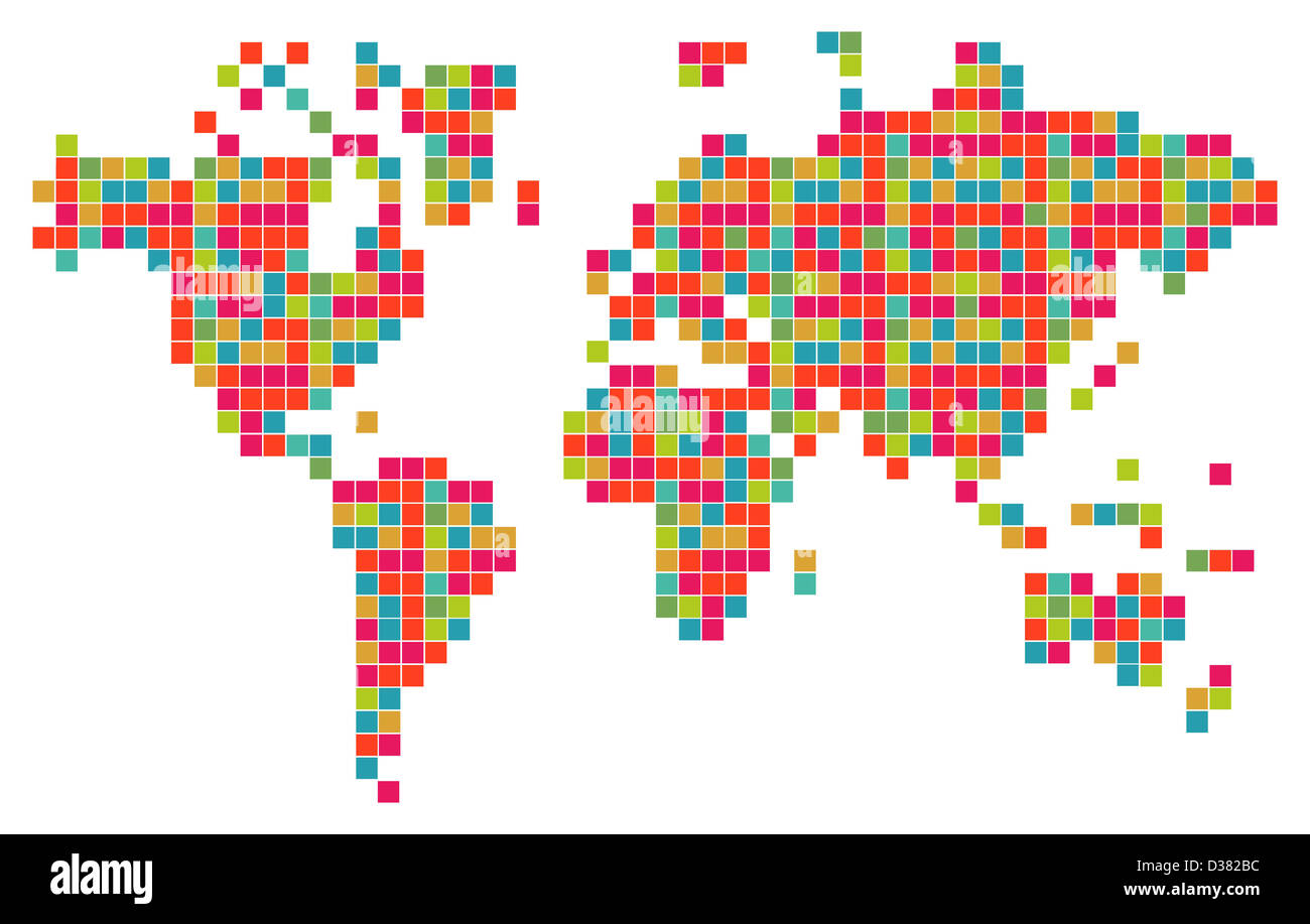 Technology bits world map shape vector file layered for easy stock technology bits world map shape vector file layered for easy manipulation and custom coloring gumiabroncs Image collections
