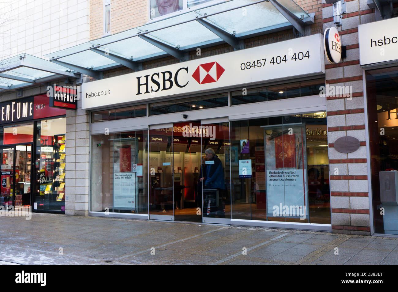 A small modern branch of HSBC bank in King's Lynn Stock ...