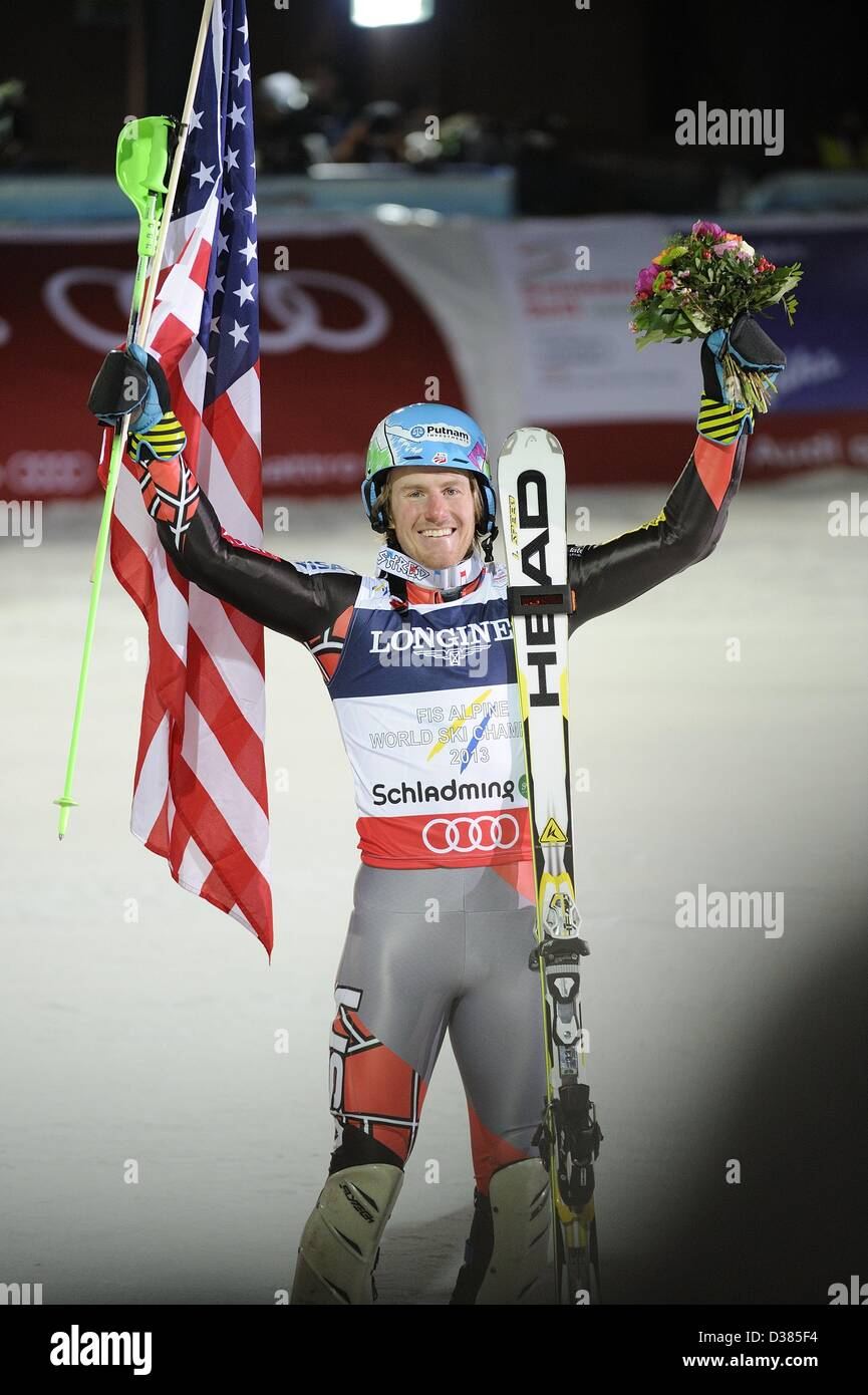 Schladming, Austria. 11th February 2013. Ted Ligety (USA), FEBRUARY 11, 2013 - Alpine Skiing : Ted Ligety of the Stock Photo