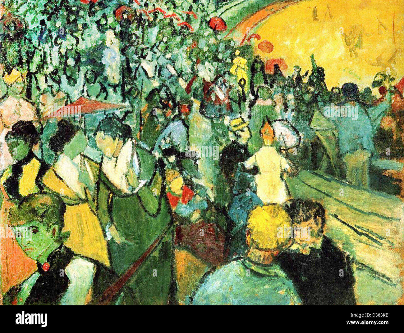 Vincent van Gogh, Spectators in the Arena at Arles. 1888. Cloisonnism. Oil on canvas. Hermitage, St. Petersburg, - Stock Image
