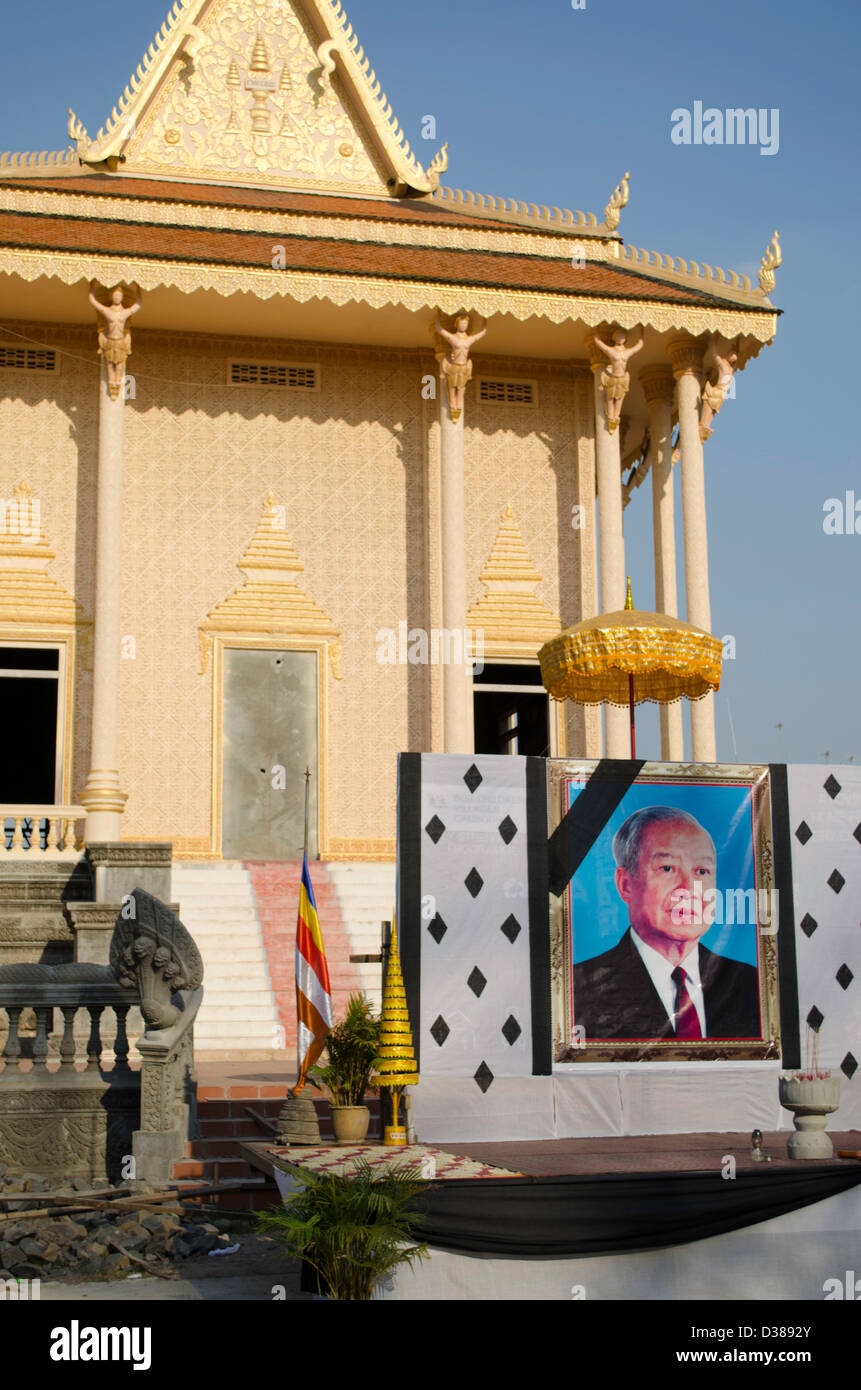 pagoda in Kratie Cambodia Stock Photo