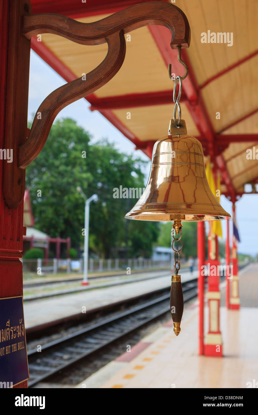 Hua Hin Railway Station, one of the most beautiful railway stations in Thailand - Stock Image