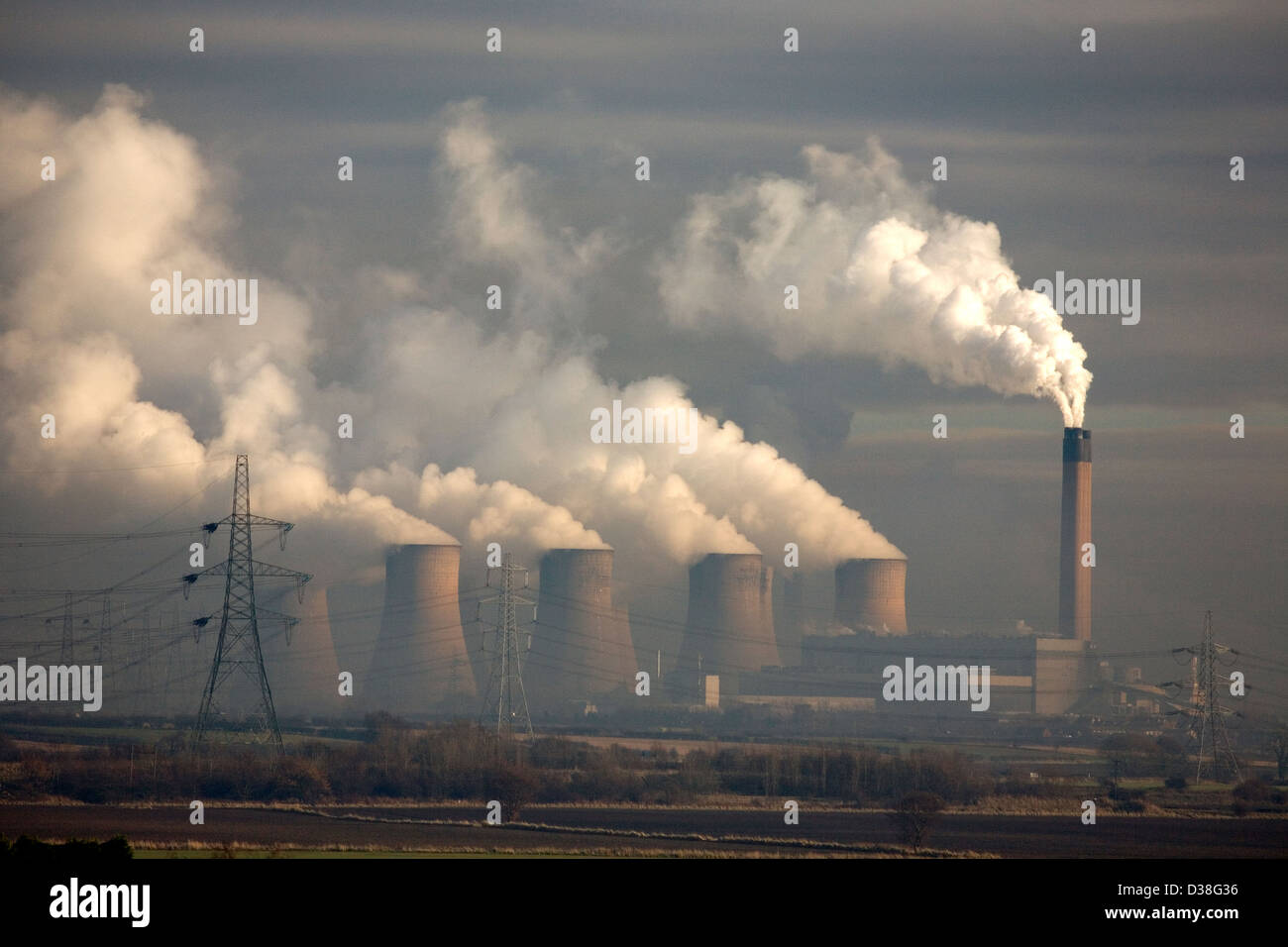 Eggborough Power Station , Yorkshire Stock Photo
