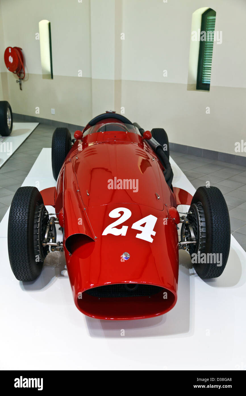 A collection of classic historic motor racing car Maserati Stock Photo