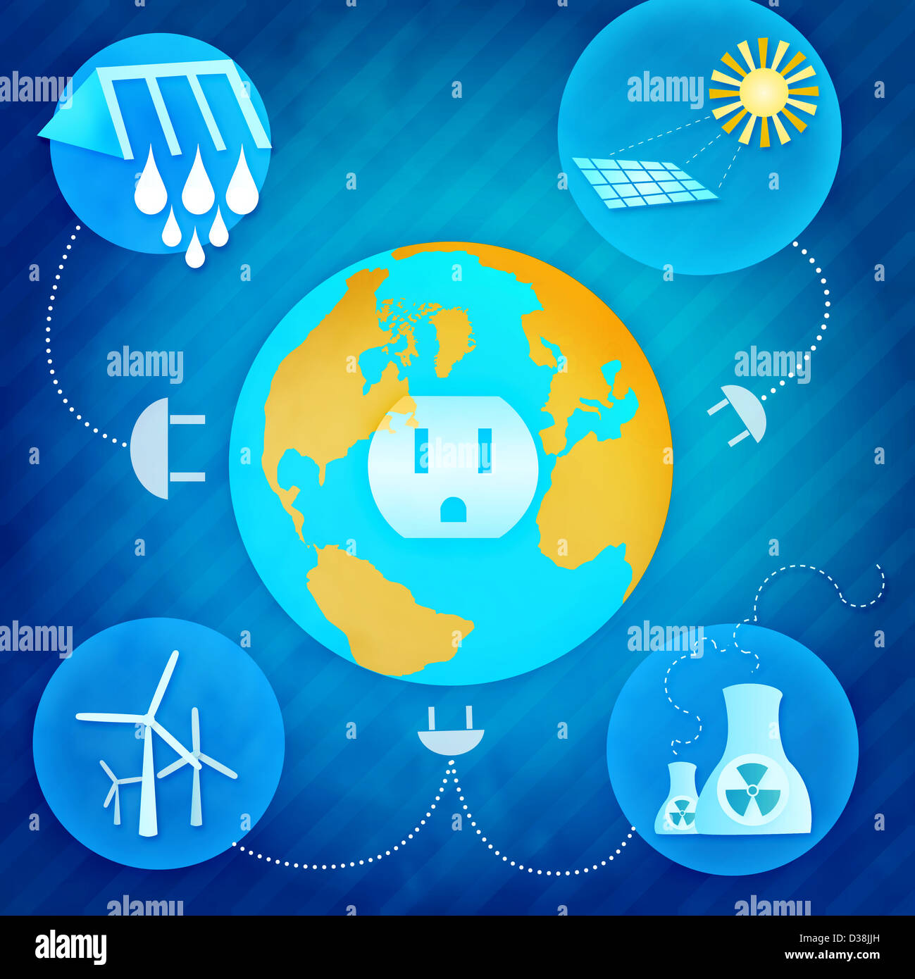 Resources of electricity production - Stock Image