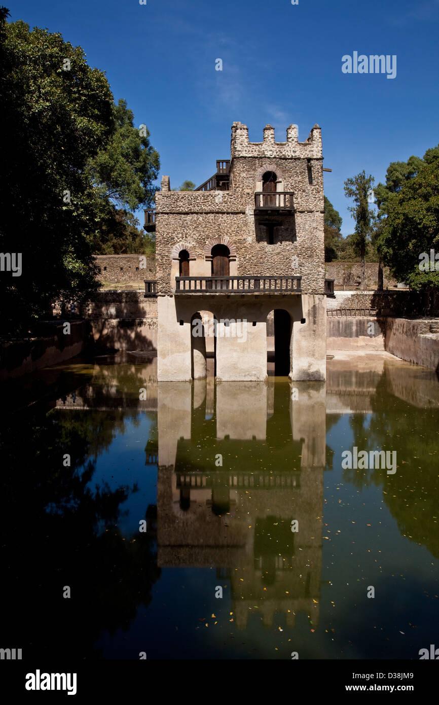 Fasilidas's Pool, Gondar, Ethiopia - Stock Image
