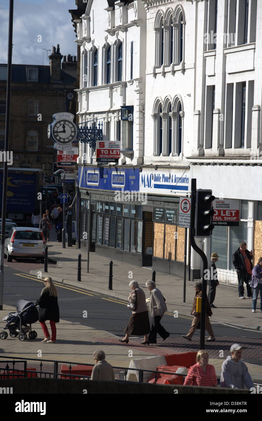Barnsley Town centre due for redevelopment - Stock Image