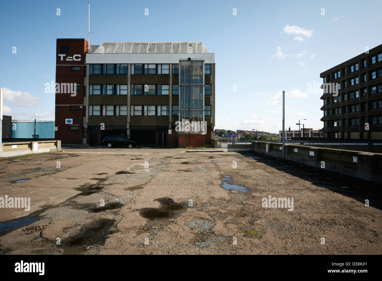 Multi storey car park in Rotherham due for redevelopment - Stock Image