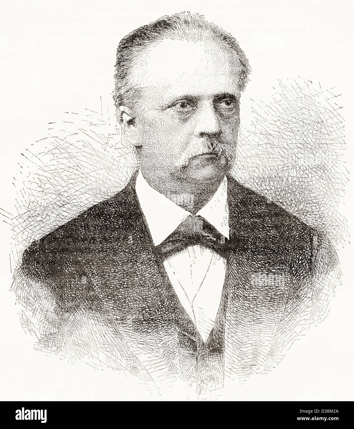 Hermann Ludwig Ferdinand von Helmholtz, 1821 –1894. German physician and physicist. - Stock Image