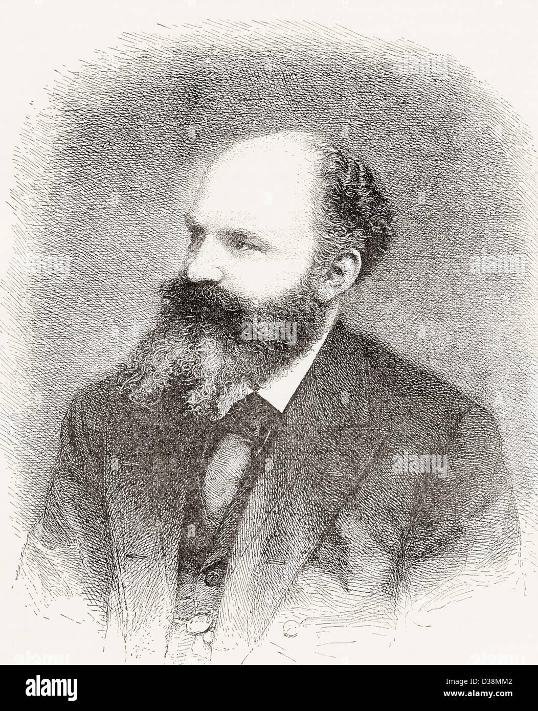Georg Moritz Ebers, 1837 –1898. German Egyptologist and novelist. - Stock Image
