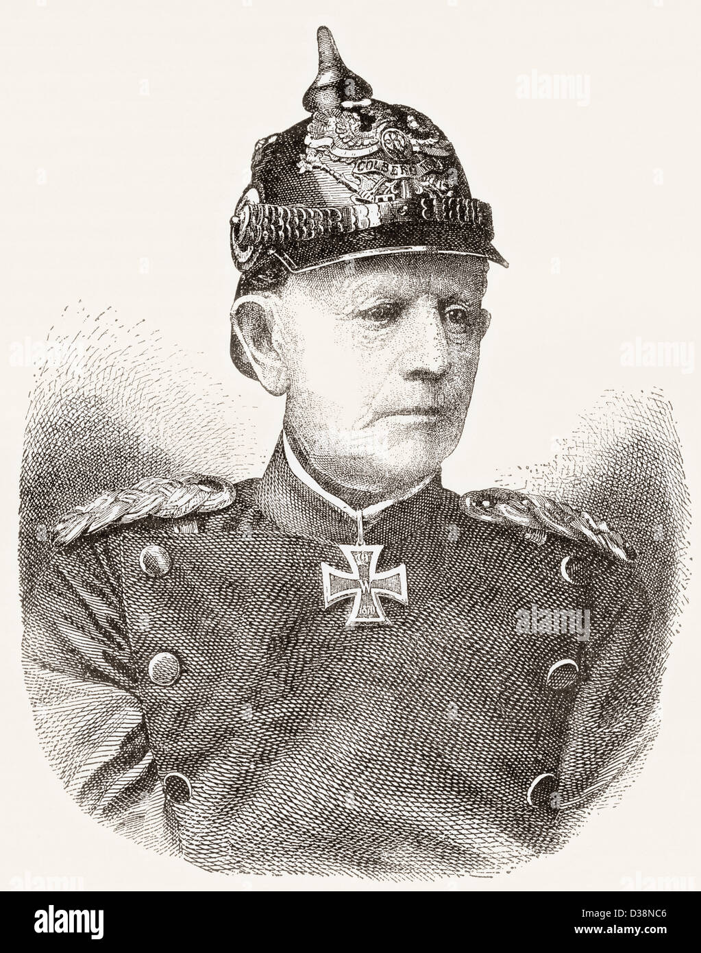 Helmuth Karl Bernhard Graf von Moltke, 1800 -1891. German Field Marshal. - Stock Image