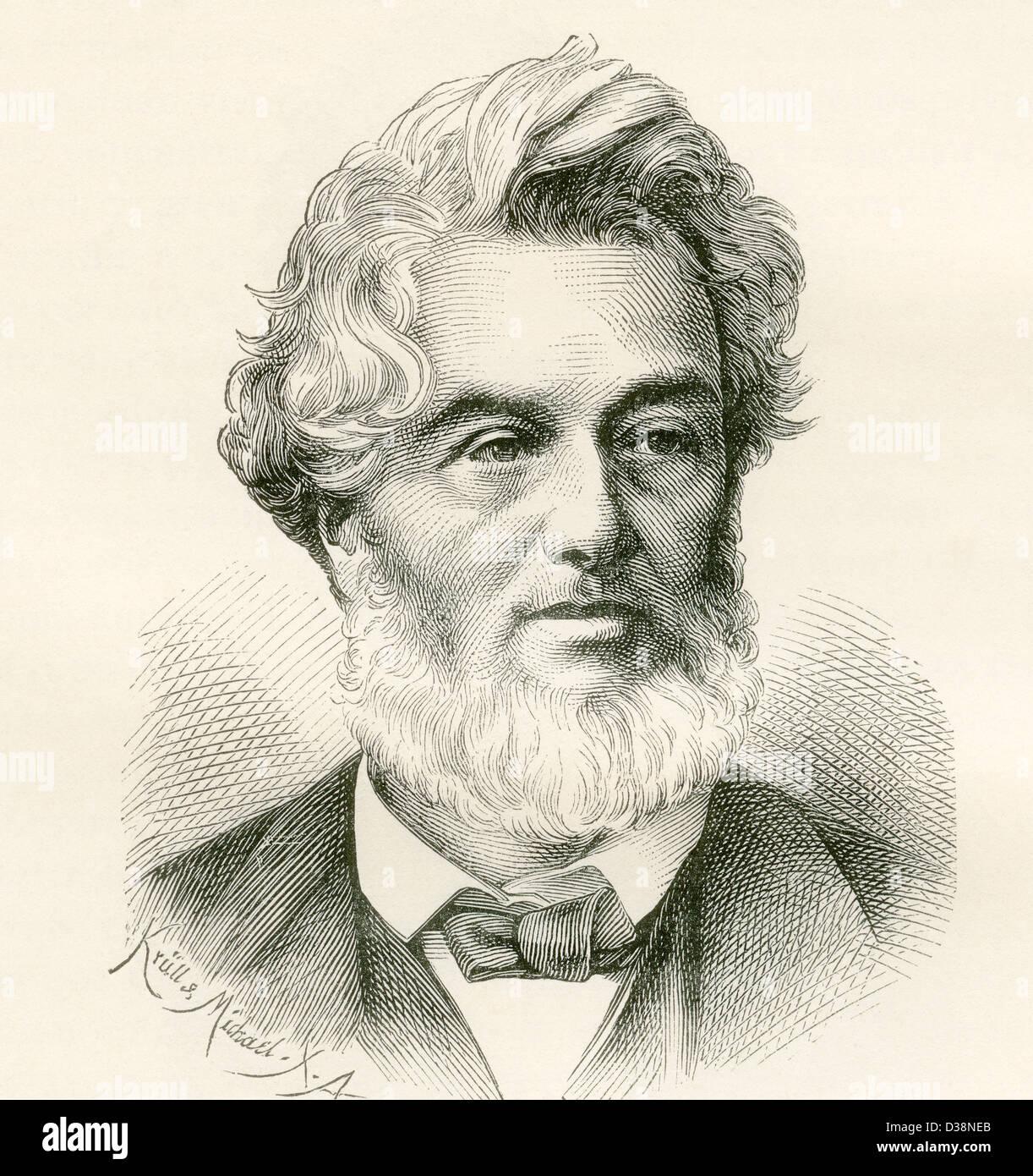 Jules Claude Gabriel Favre, 1809 – 1880. French statesman. - Stock Image