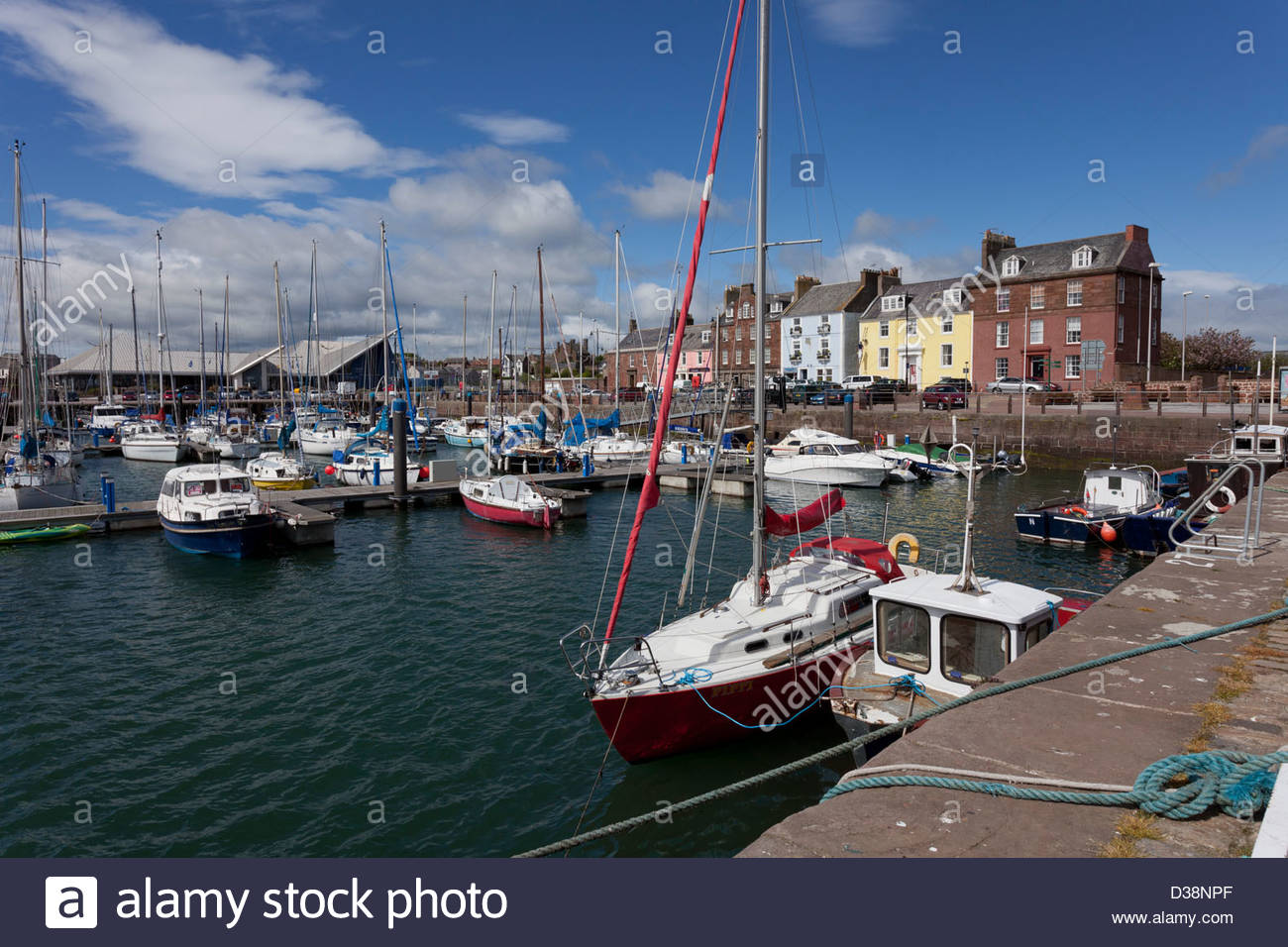 Arbroath Harbour, Arbroath, Angus. - Stock Image