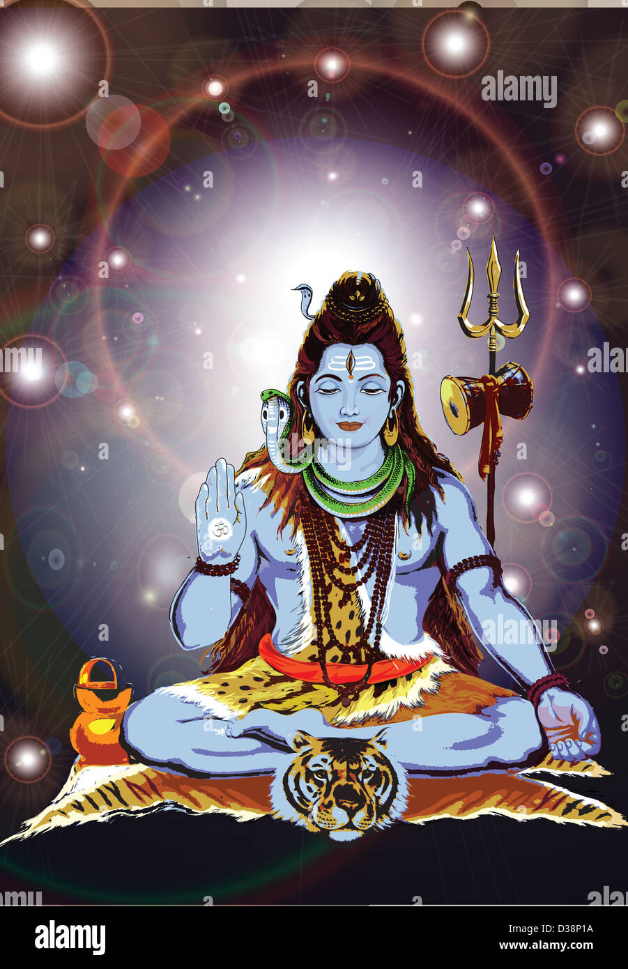 Hindu god Shiva - Stock Image