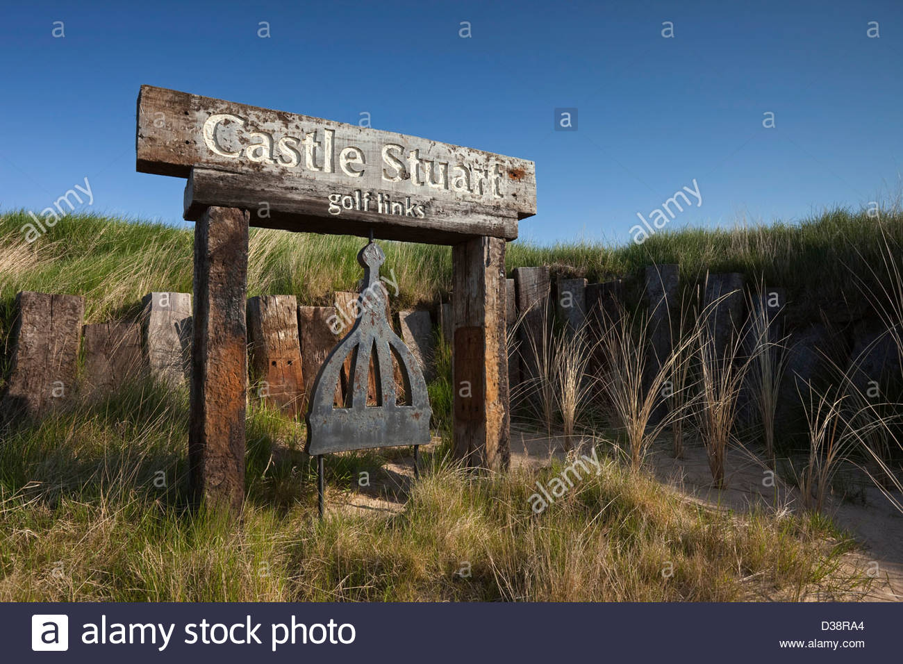 Castle Stuart Golf Links, situated between Inverness and Nairn, on Scotland's Moray Firth coast. - Stock Image