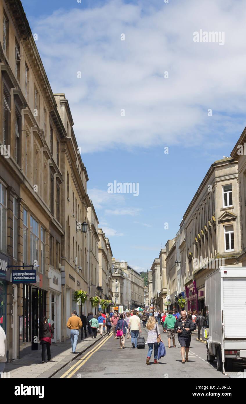 Narrow Shopping Street Bath Stock Photos & Narrow Shopping Street ...