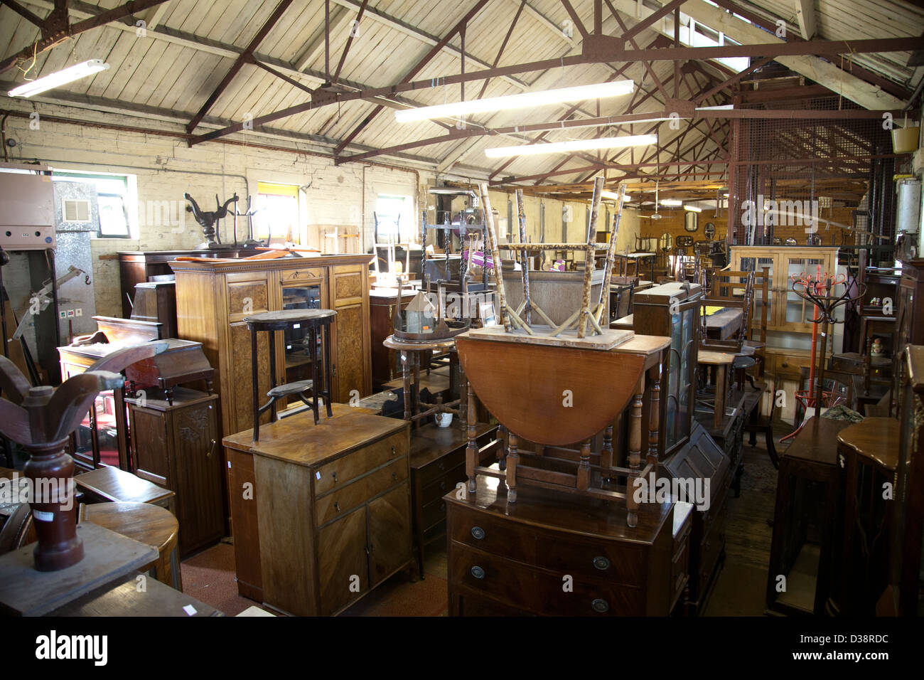 R G Scotts recycling shop in Margate Kent UK - Stock Image