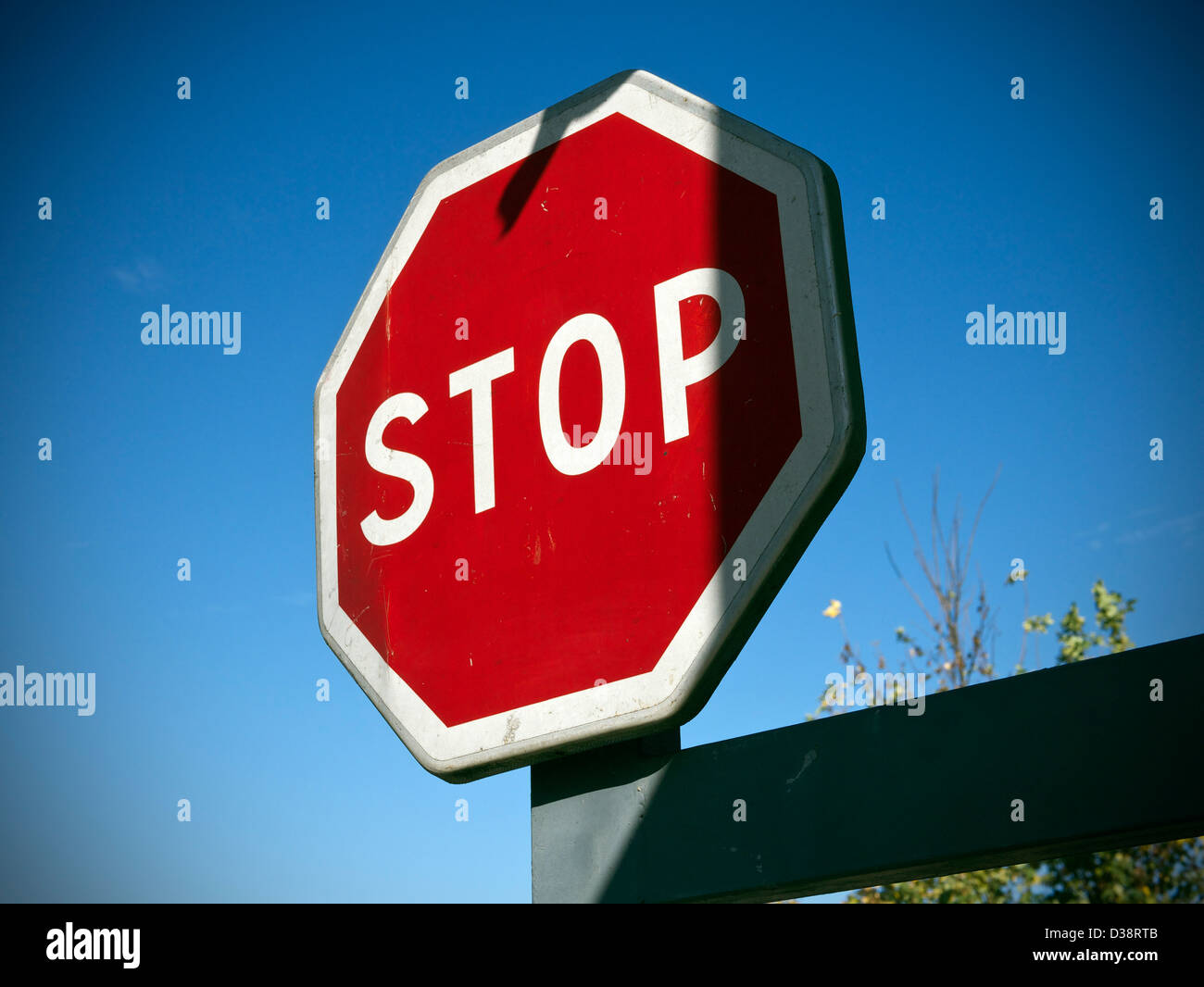 A traffic STOP sign - Stock Image