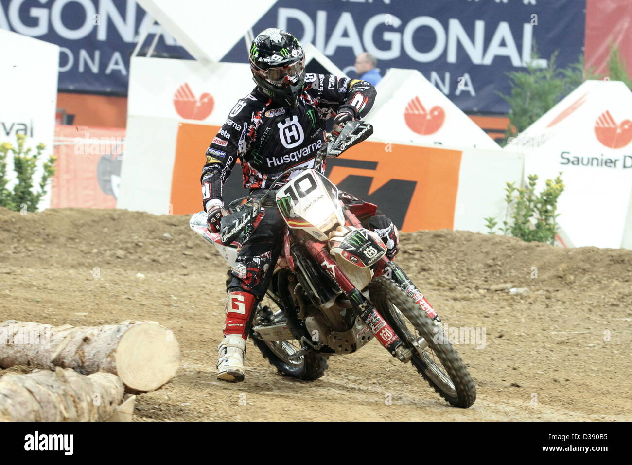 10.02.2013 Barcelona , Spain. FIM Superenduro World Championships. Picture shows Lorenzo Santolino ESP riding Husqvarna - Stock Image