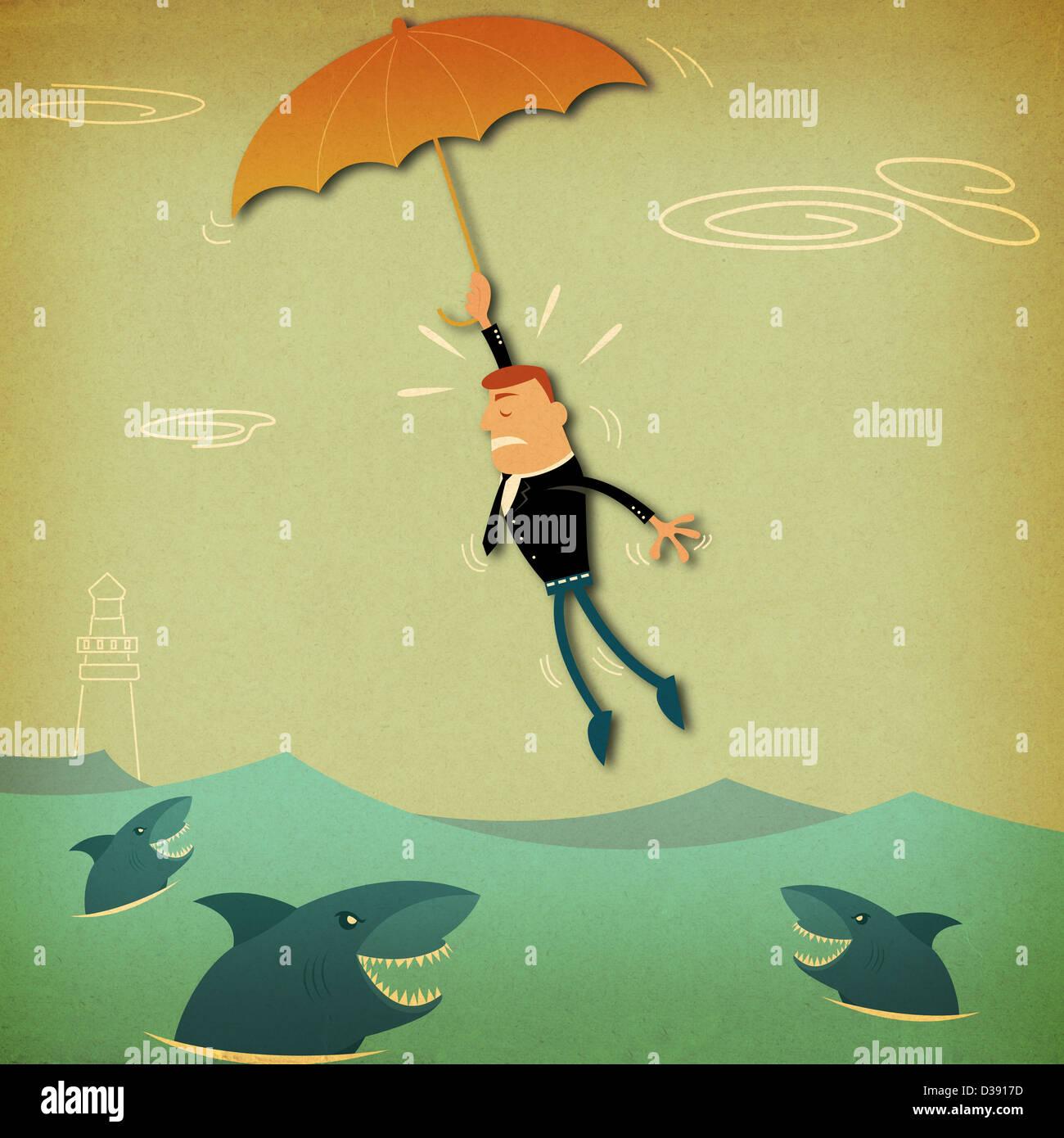 flying fish illustration stock photos amp flying fish