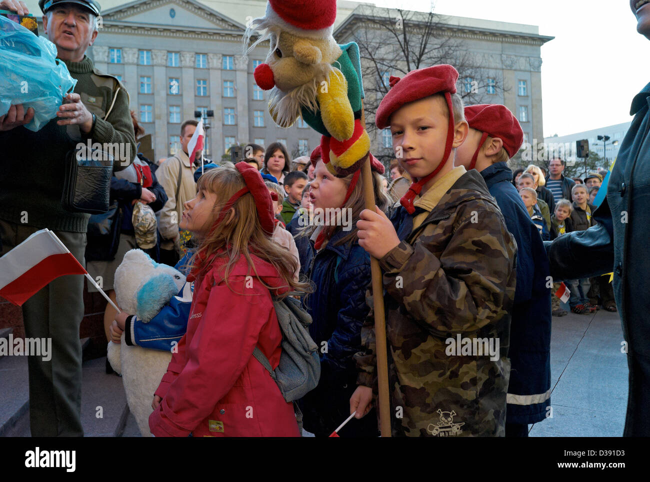Katowice, Poland, at the celebration of Independence Day of Scouting - Stock Image