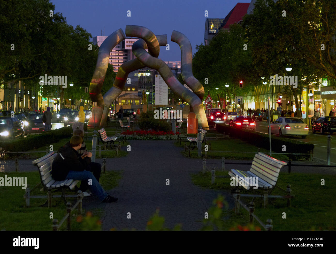 Berlin, Germany, the sculpture titled Berlin-on Tauentzienstrasse - Stock Image