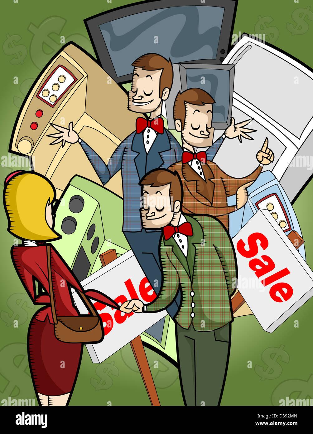 Salesmen - Stock Image
